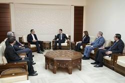 Cabiri Ensari, Şam'da Beşar Esad'la görüştü