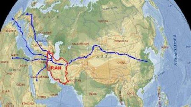 قطار جاده ابریشم به ایران رسید