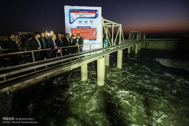 تدشين محطة معالجة للصرف الصحي شرق الأهواز بحضور جهانغيري