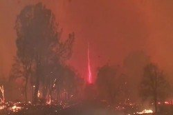 VIDEO: Astonishing 'fire devil' in California wildfire