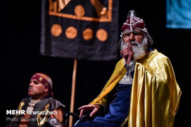 """مجموعة من ذوي الحاجات الخاصة في مسرحية """"رستم وسهراب"""""""