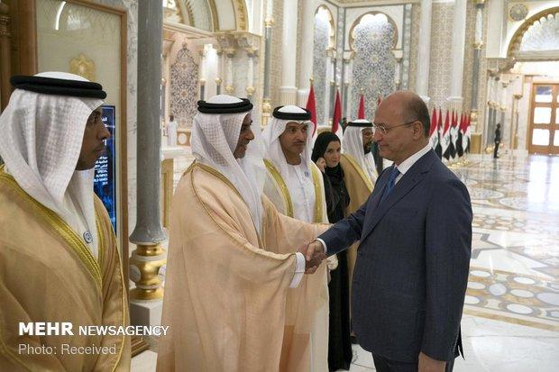 سفر رئیس جمهوری عراق به امارات