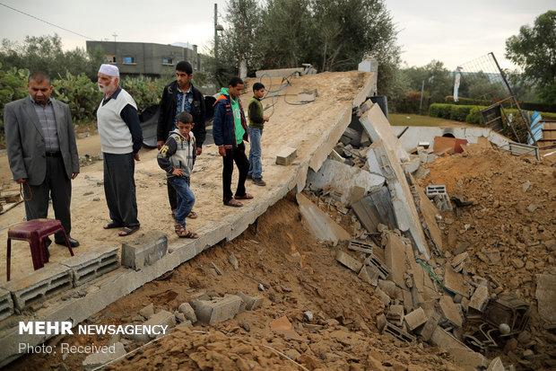 حملات صهیونیستها به غزه
