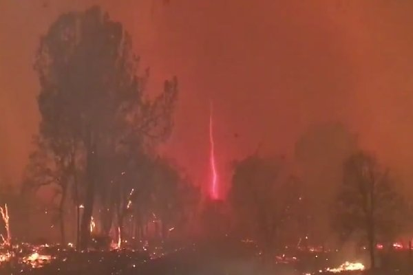 VIDEO: Astonishing 'fire devil' in California wildfire