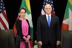دیدار «مایک پنس» و «آنگ سان سوچی» درباره بحران روهینگیا