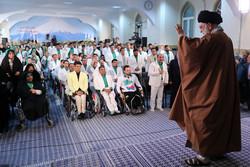 Devrim lideri'nin paralimpiyat şampiyonlarıyla yaptığı görüşmeden kareler
