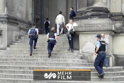 لحظه هجوم مرد مسلح به کلیسایی در برزیل