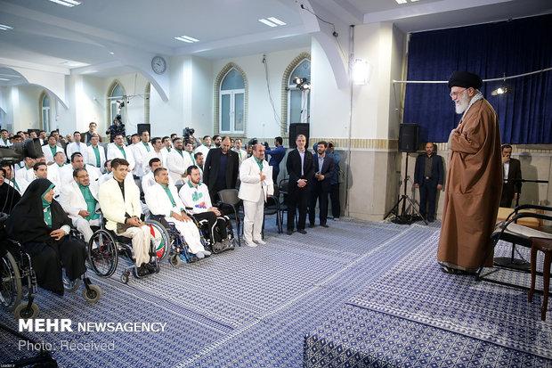 دیدار مدالآوران بازی های پاراآسیایی اندونزی با رهبر انقلاب