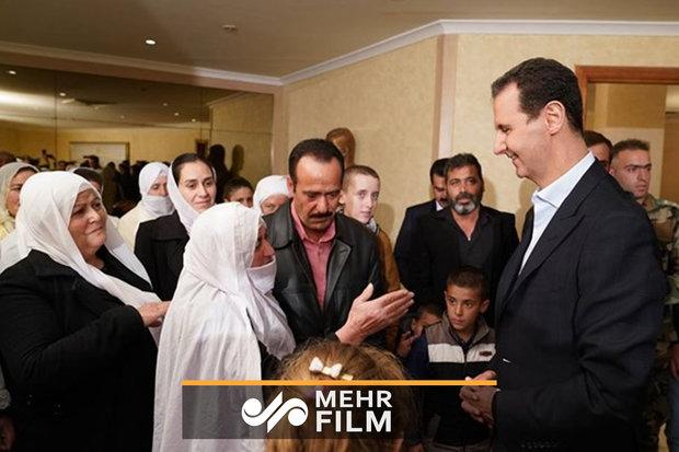 فلم / شام میں آزاد ہونے والے قیدیوں کی بشار اسد سے ملاقات