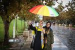Tahran yağmur ile bir başka güzel