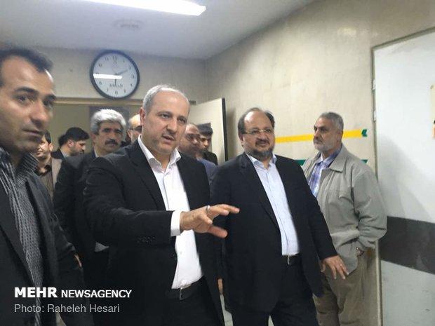 حضوروزیر تعاون، کار و رفاه اجتماعی در بیمارستان حکیم جرجانی گرگان