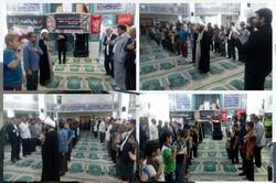 مراسم ویژه عزاداری شهادت امام حسن عسکری در آبدان برگزارشد