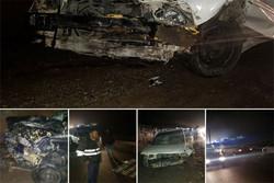 تصادف شاخ به شاخ دو خودرو در هراز/۵ نفر مصدوم شدند