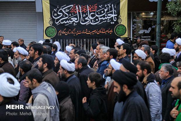 مراسم عزاداری شهادت امام حسن عسکری(ع) در دفتر مراجع در قم