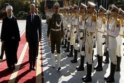 روحاني يستقبل نظيره العراقي بقصر سعد آباد