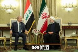 روحاني يستقبل رسمياً الرئيس العراقي برهم صالح /فيديو