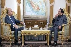 برهم صالح يؤكد على ضرورة تعزيز العلاقات بين طهران وبغداد