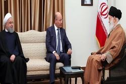 قائد الثورة يستقبل رئيس جمهورية العراق