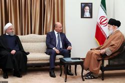 """إستقبال قائد الثورة الرئيس العراقي """"برهم صالح"""" / صور"""