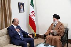 Berhem Salih'in İslam Devrimi Lideri'yle görüşmesinden kareler