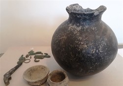 File photo depicts ancient Iranian relics