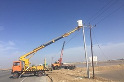 طوفان به شبکه برقرسانی استان بوشهر خسارت وارد کرد