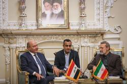 لاريجاني يبحث مع الرئيس  العراقي العلاقات الثنائية