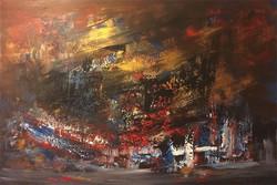 «واکاوی» دنیای هفت نقاش/ آثاری که آینه نگاه انتزاعی خالقان است