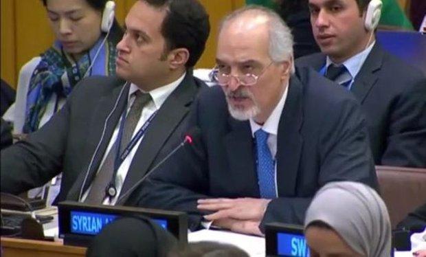 Al-Jaafari calls on UN to vote against Saudi draft resolution on Syria