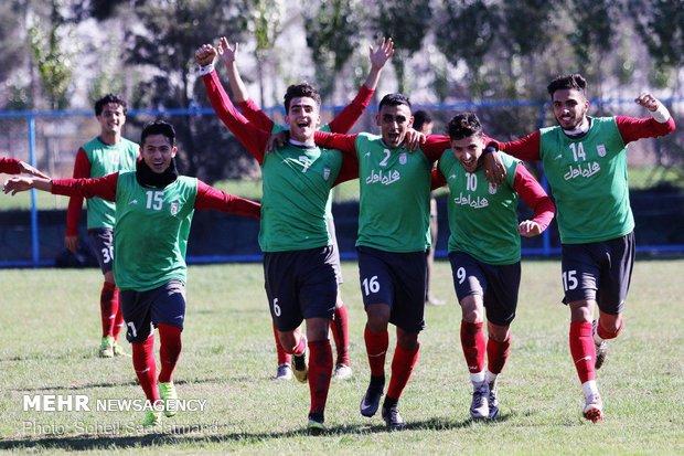 آخرین تمرین تیم فوتبال امید ایران قبل از سفر به عمان