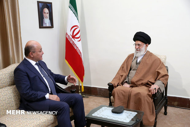 Leader meets with Iraqi president