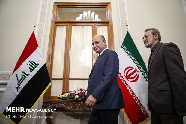 Larijani's meeting with Iraqi President