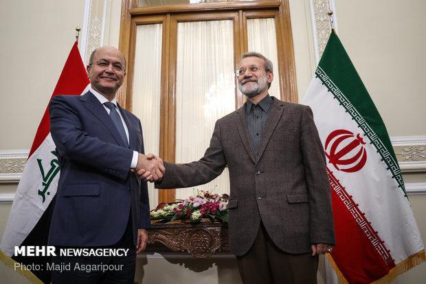 عراقی صدر کی ایرانی اسپیکر سے ملاقات