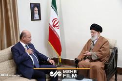 فلم/ عراقی صدر کی رہبر معظم سے ملاقات