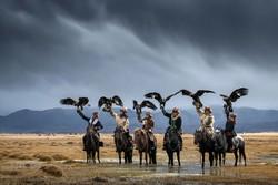 فرسان والنسور على ايديهم في منغوليا / صور