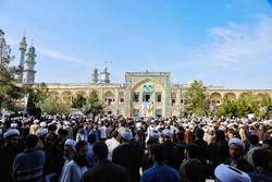 حضور طلاب و اساتید حوزه علمیه استان تهران در مراسم حماسه نهم دی