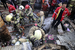 تہران میں کپڑوں کے ایک گودام میں آگ لگ گئی
