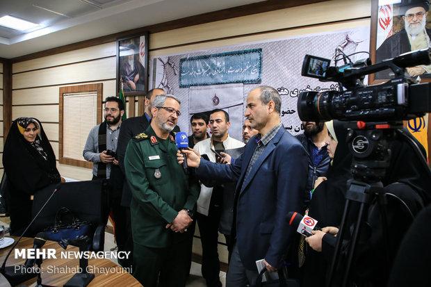 نشست خبری سردار غلامحسین غیب پرور به مناسبت هفته بسیج