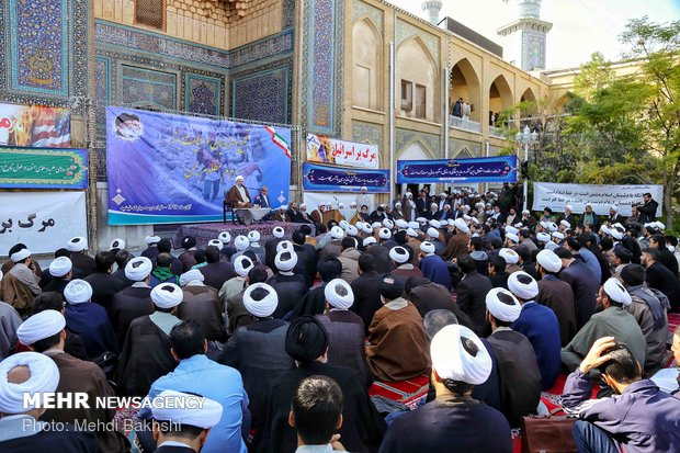 Iranian clerics in Qom condemn Saudis' crimes in Yemen