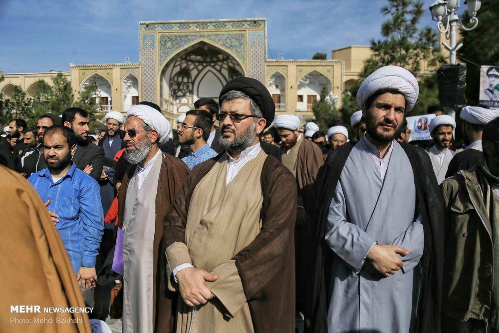 تجمع طلاب در اعتراض به جنایات آل سعود در یمن