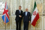 Hunt meets Zarif as Trump berates UK for ties with Tehran