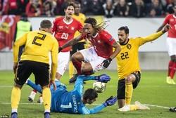 دیدار تیم های ملی فوتبال سوئیس و بلژیک