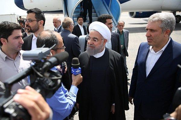 Cumhurbaşkanı Ruhani Batı Azerbaycan'da