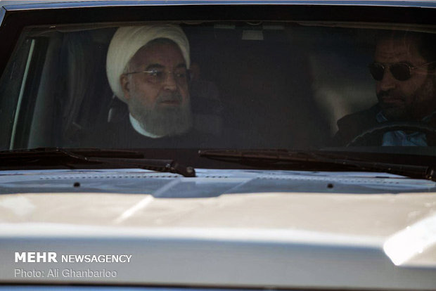 Pres. Rouhani lands in Urmia