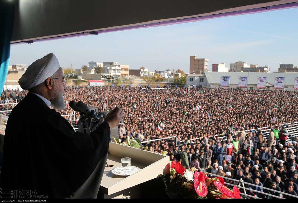 Rouhani: Iran won't yield to economic war