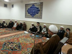 دیدار جمعی از علمای شبه قاره هند با اعضای دفتر آیت الله جوادی آملی