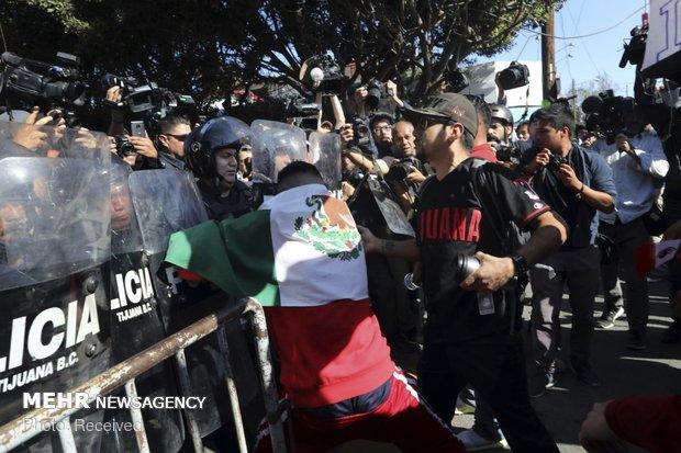 اعتراض مکزیکی ها علیه مهاجران