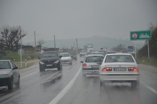 وضعیت ترافیکی جاده ها, بارش برف, بارش باران, پلیس راهور