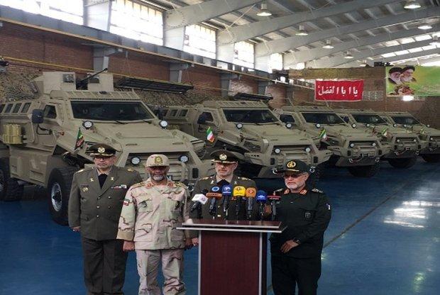 ازاحة النقاب عن سيارة عسكرية مضادة للألغام والكمائن