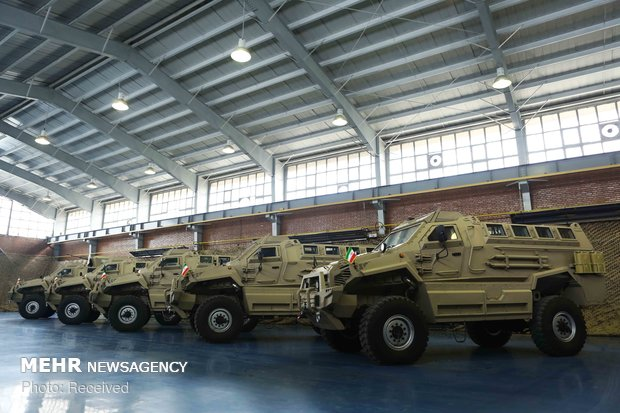 Unveiling of mine-resistant, armored military vehicle 'Toufan'